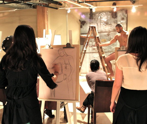 Champagne & Charcoal – Life Drawing Special Event Dec. 2016