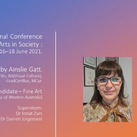 16th International Conference on the Arts in Society (ICAS ) Presentation.